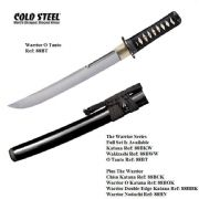 Warrior O Tanto With Black High Gloss Scabbard (Saya)
